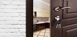 Half Opened Door To A Kitchen Handle Lock Dining Room