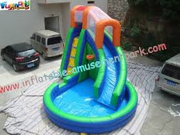 Kids Durable Indoor Outdoor Inflatable Water Slides Pool Games Can Use For Rent Re Sale