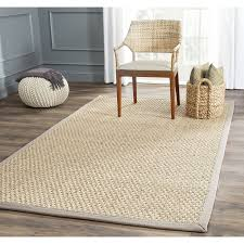 Amazon Safavieh Natural Fiber Collection NF114P Basketweave And Grey Summer Seagrass Area Rug 4 X 6 Kitchen Dining