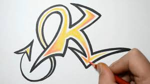 How to Draw Graffiti Letters K