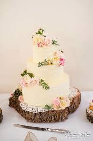 Rustic Buttercream Wedding Cake Finished With Pretty Fresh Flowers Rusticweddingcake