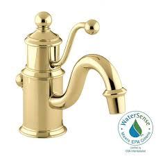 kohler antique single hole single handle low arc water saving