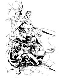 Dc Comics Superhero Batman And Superman Coloring Page