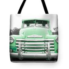 100 Chevy Pickup Trucks For Sale The Old Green Truck Tote Bag For By Edward Fielding
