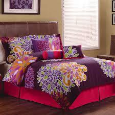 furnitures purple comforter sets queen flower show bedding set