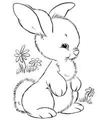 Cute Little Rabbit Coloring Page