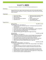 Download Free Delivery Driver Resume Sample Resumes Of Now Truck Example