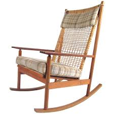 Teak Rocking Chairs Vintage Danish Modern Sculpted Teak ...
