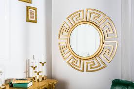 öser design spiegel 86cm gold riess ambiente de