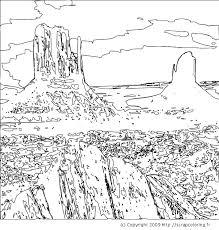 Desert Landscape Coloring Pages