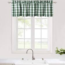 lintimes kariert gingham küche vorhang gardinen schals fensterschal vorhänge bistrogardinen für sclafzimmer wohnzimmer grün 148cmx 38cm 56x15 inch