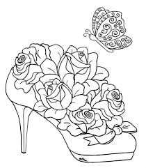 Printable Coloring Pages Flowers Adults Large Size
