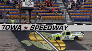 100 Nascar Truck Race Results NASCAR Series Iowa Brett Moffitt Survives Wild Last