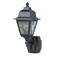shop heath zenith 15 75 in h black motion activated outdoor wall