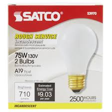 satco s3970 75 watt frosted finish incandescent service