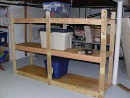 wooden storage shelves basement storage shelf plans basement