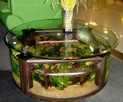 table basse aquarium botanic interesting fish tank living room ideas for glass table with