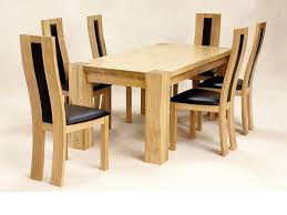100 Oak Table 6 Chairs Modern Round Wood Dining Maple Dining Room Solid Wood