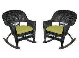 2-Piece Tiana Black Resin Wicker Patio Rocker Chairs Set - Green ... Hanover Outdoor Orleans 5piece Porch Rocker Set With Cherry Red Retro Patio 3 Pc Metal Rocking Chair Tortuga Portside Plantation Dark Roast 3piece Wicker White Plastic Chairs Cr Generation The Classic All Weather Bayview Magnolia Art Epicenters Austin Paint Darrow Polywood Jefferson Pwrockerset3 Fniture 3pc Lazboy Avery Piece Bistro In Blue Kmart