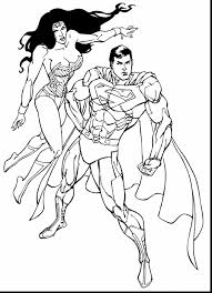Great Superman And Wonder Woman Coloring Pages With Page Free