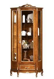 eckvitrine stilmöbel 1 glastür 1 schubladen vitrine seite aus glas im klassischen stil für wohnzimmer esszimmer