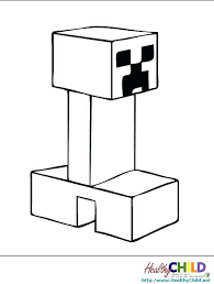 Minecraft Mutant Creeper Coloring Pages For Kids Color New To Print