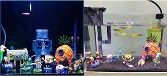 Spongebob Aquarium Decorating Kit by 8pcs Lot Aquarium Fish Tank Decoration Spongebob Aquarium Ornament