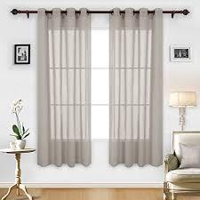 stoff deconovo gardinen transparent wohnzimmer voile vorhang