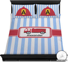 Bedding : Firetruck Duvet Cover Set Personalized Baby N Toddler Fire ...