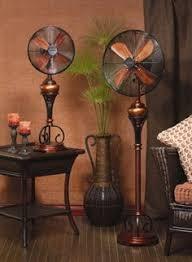 serene 16 inch decorative oscillating standing floor fan 16