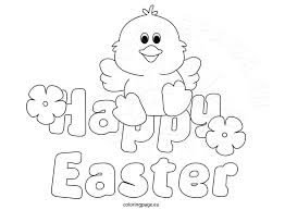 Happy Easter Coloring Page 2016
