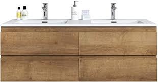 badezimmer badmöbel set angela 140cm eiche f oak unterschrank schrank waschbecken waschtisch
