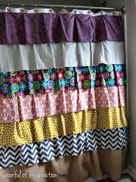 Fabric For Curtains Diy by Diy Ruffled Shower Curtain Spoonful Of Imagination