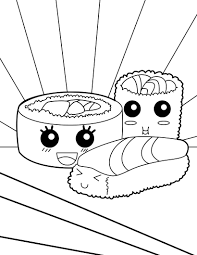 Makis Sushi Coloring Page