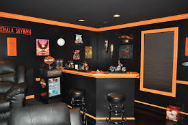 harley davidson themed theater contemporary family room