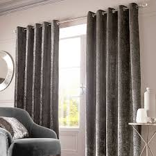 Ebay Curtains With Pelmets Ready Made by Sienna Home Crushed Velvet Pair Eyelet Ring Top Curtains Fully