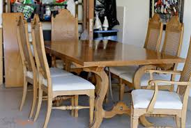 6 Thomasville Furniture Dining Room Sets Cane Back Chairs Intended