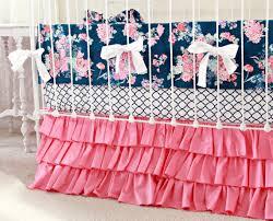 pink and navy baby bedding custom crib bedding