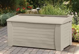 Suncast Outdoor Storage Cabinets With Doors by Amazon Com Suncast Db12000 Deck Box 127 Gallon Suncast