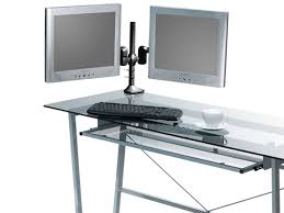 tilt swivel dual monitor desk mount bracket max 18 lbs per arm