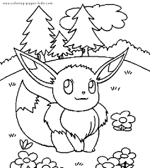 Pokemon Color Page Cartoon Characters Coloring Pages Plate Sheetprintable