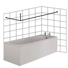 Bathtub Splash Guard Uk by Croydex Premium Stainless Steel Ceiling Support L Shaped Shower
