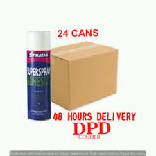 24 x stikatak superspray adhesive all purpose carpet tiles glue