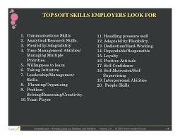 Resume Soft Skills List To Put On