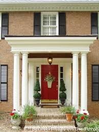 Beautiful Porch Of The House by A Beautiful Front Porch Renovation Benjamin Front Doors