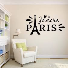 For Paris Love Romantic Eiffel Tower Bedroom Home Personality Wall Stickers Drawing Room Decals Diy Vinyl Decor Art Walls Decal From