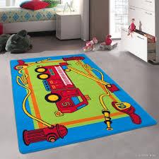 Shop Allstar Kids Fire Truck And Rug - 4' 11