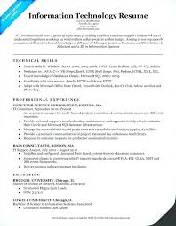 Resume Samples For College Students With No Work Experience Skills Information Technology It Sample Key In