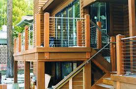 Types Cable Deck Railing Systems : Doherty House - Install A Steel ... Stainless Steel Cable Railing Systems Types Stairs And Decks With Wire Cable Railings Railing Is A Deco Steel Guardrail Deck Settings And Stalling Post Fascia Mount Terminal For Balconies Decorations Diy Indoor In Mill Valley California Keuka Stair Ideas Best 25 Ideas On Pinterest Stair Alinum Direct Square Stainless Posts Handrail 65 Best Stairways Images Staircase