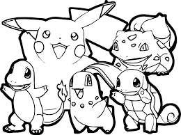 Pokemon Pikachu Coloring Pages Draw All On Online To Download Cartoons Of